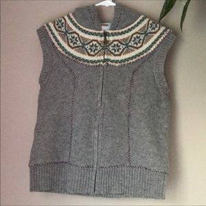 Free People Lined ZIP Up Sweater Vest